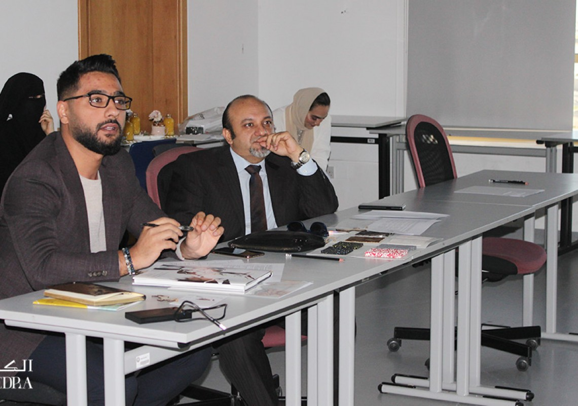 Ajman University - Algedra's CEO attended the review session where students presented their graduation projects