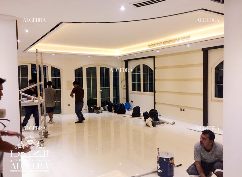 Modern Villa decoration in Dubai (On Going)