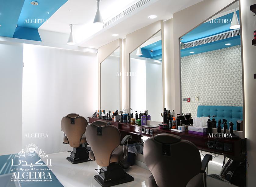 تصميم داخلي صالون في دبي - تصميم داخلي للمحلات من الكيدرا