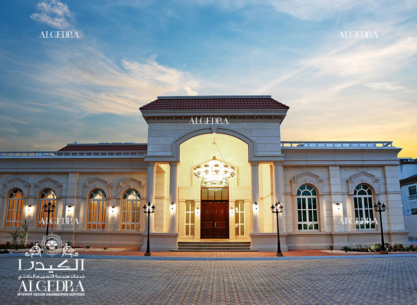 تصميم داخلي فخم لقصر في أبوظبي