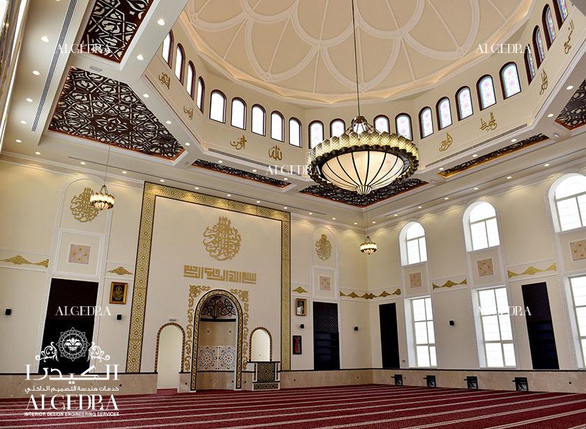 تصميم داخلي لمسجد في الشارقة