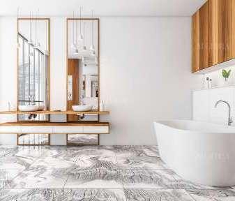 أفكار جذابة لأرضيات بلاط الحمام