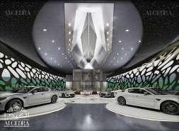 Futuristic Car Showroom Design
