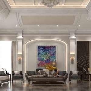تصميم تقسيم غرفة المعيشة