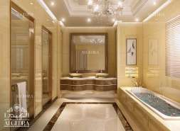 Luxury bathroom for villa