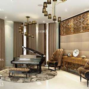 beautiful lobby design by Algedra
