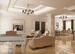 luxury family hall design for villa