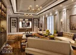 Decorated Family Room Design