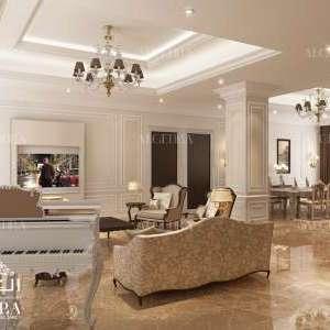 luxury family hall design for villa