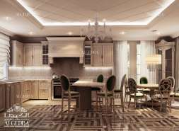 Luxury kitchen design for Villa