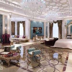تصميم غرفة نوم رئيسية فاخرة