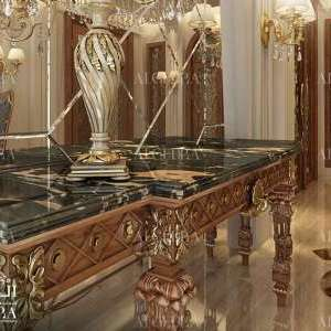 Luxury decor for villa entrance