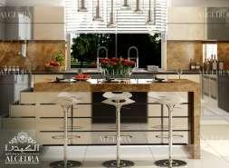 villa's kitchen design