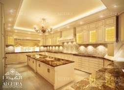 Gold Kitchen interior
