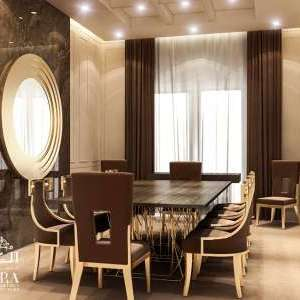Brown Gold Dining Design