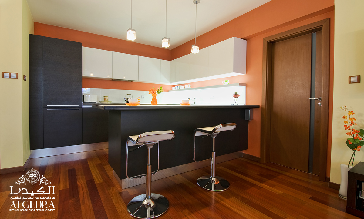 Kitchen Interior with Colorful Designs
