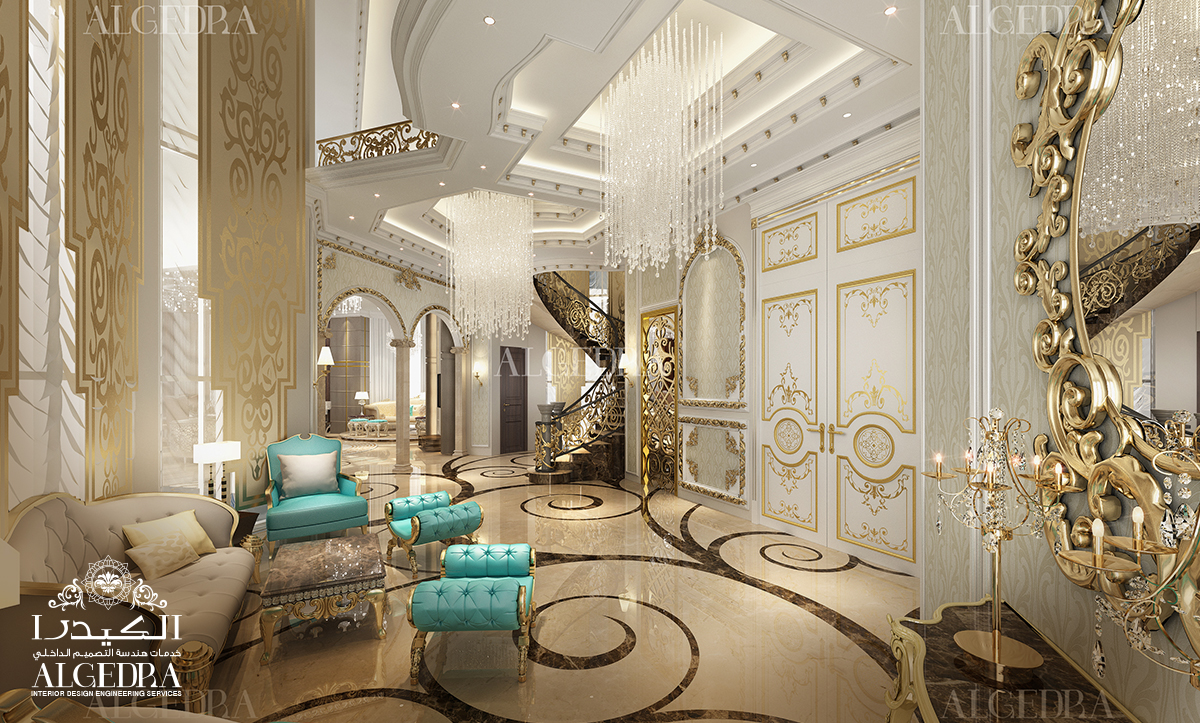 Palace architectural living room design