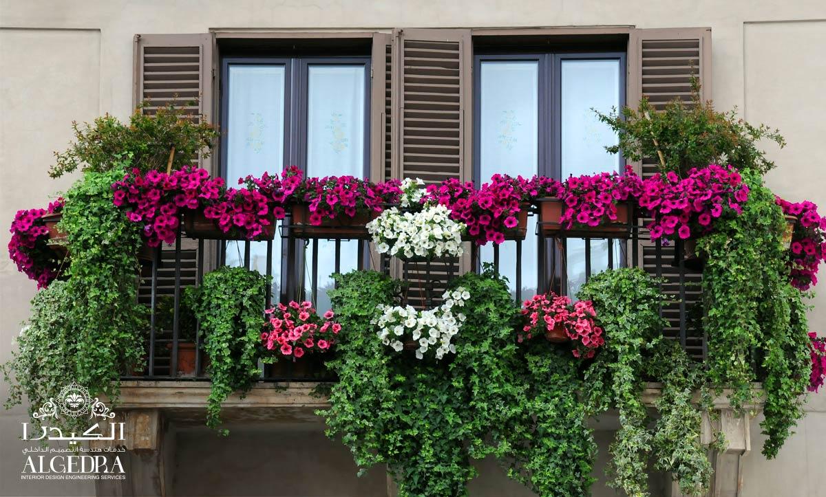 balcony decoration with plants