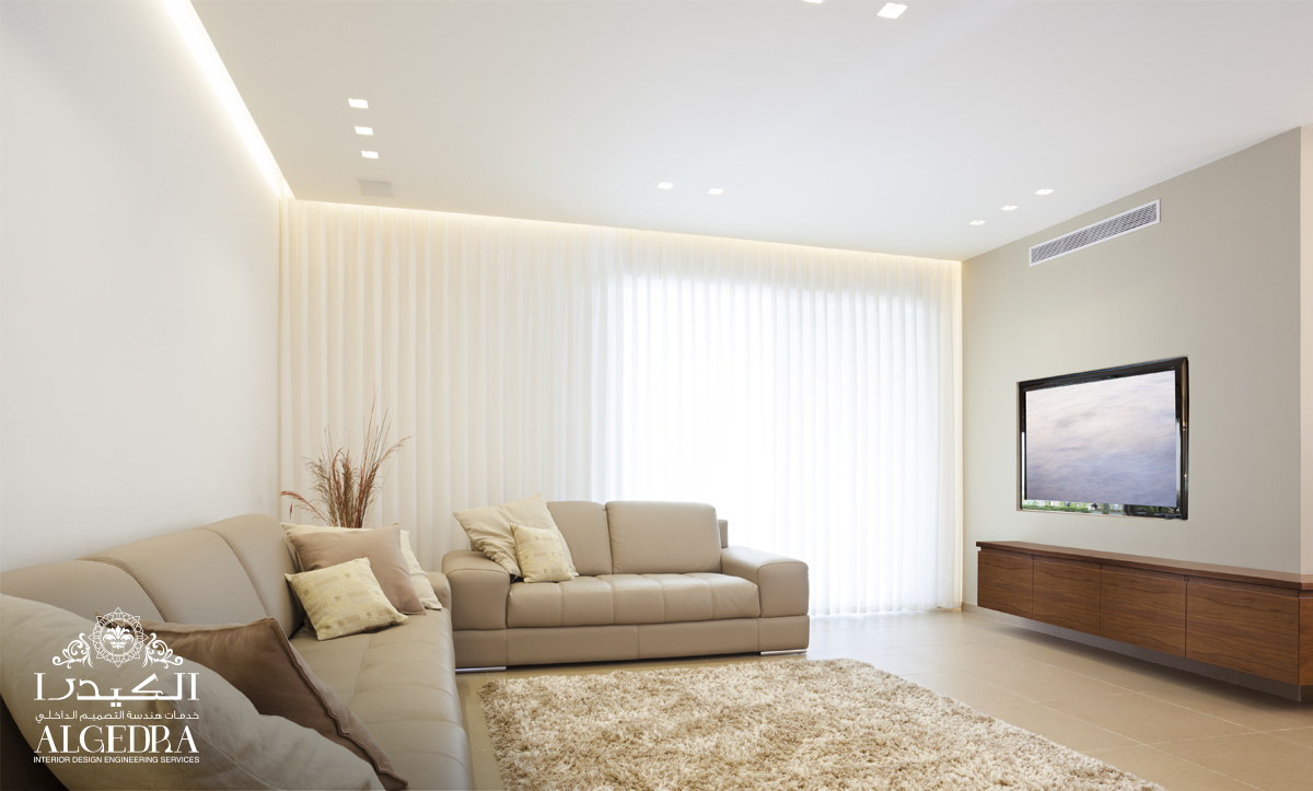 living room design and wall decor