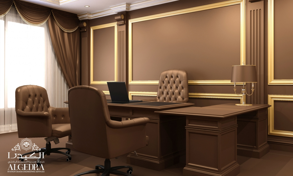 brown-themed office design