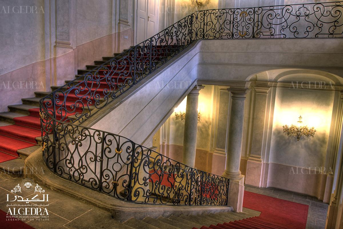 intricate handrail design