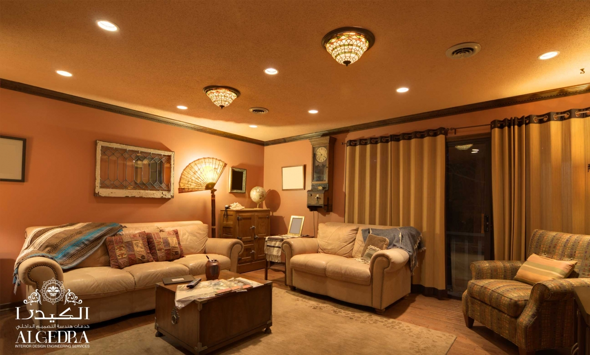 oriental themed living room