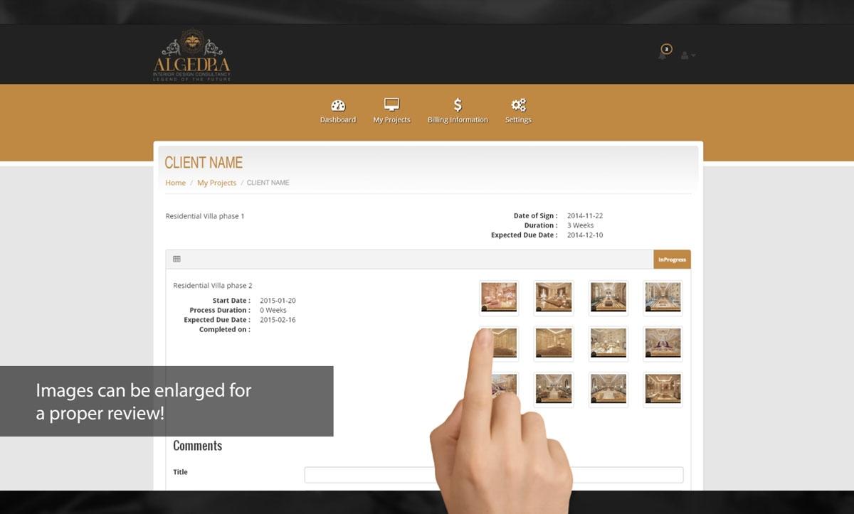 MyALGEDRA Client Info